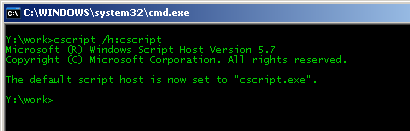 How to execute vb scripts using cscript instead of wscript at N2